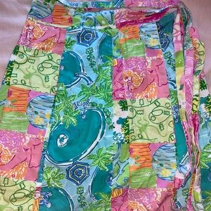 Vintage Lilly Pulitzer Wrap Skirt